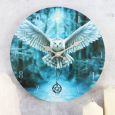 Wandklok Awaken Your Magic - Anne Stokes (Uil - Uilen)