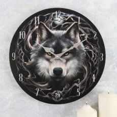 Wandklok Night Forest - Anne Stokes (Wolf - Wolven)