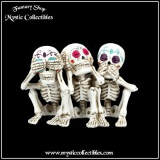 Beeld Three Wise Calaveras (Horen - Zien - Zwijgen) (Skelet - Day of the Dead - Skeletten)